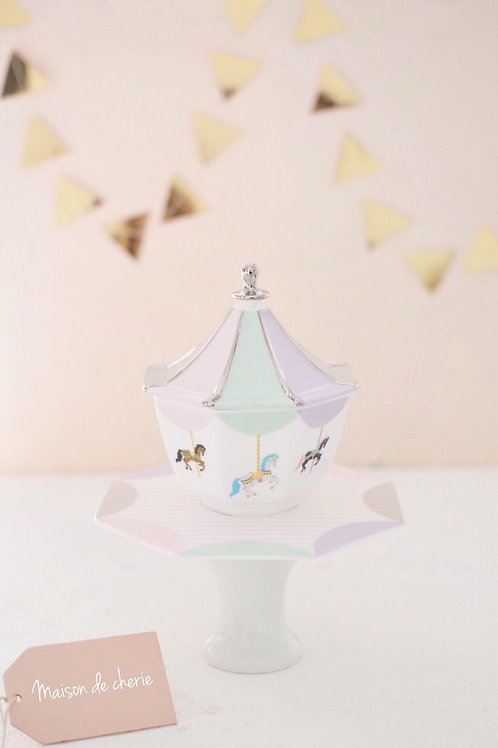 Merry go round Bowl with plate