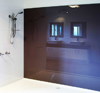 Glass Splashback Shower Wall-Brown