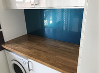 Glass Splashback Laundry-Aqua.