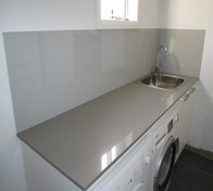 Glass Splashback Laundry-Soft Grey