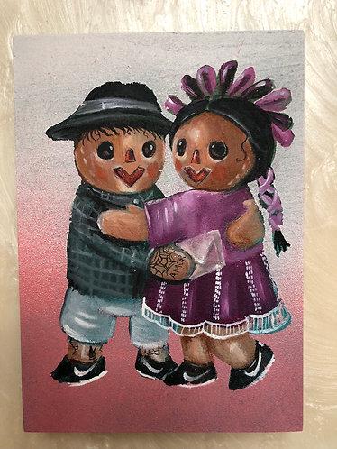 Original paintings- 5x7 Maria y Mario
