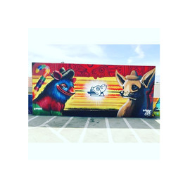 Collaborative mural with Myke Rios