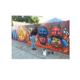 Mural for Chicano Art Gallery
