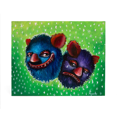 'Smile now cry later- featuring Chucho' 8inches X 10 inches