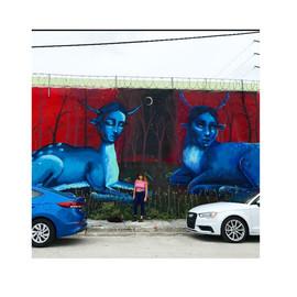 Frida inspired mural