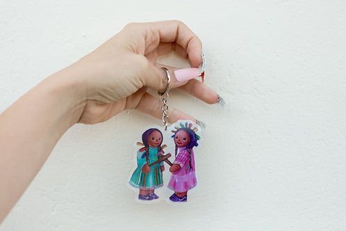 Dos maria Keychains- HOLOGRAPHIC