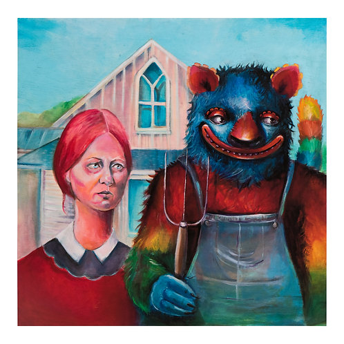 """'American Gothic' - Limited Giclee Signed Prints 20/20, 16""""X16"""""""