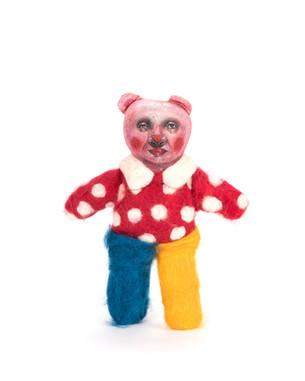 Teddy Bear circus doll