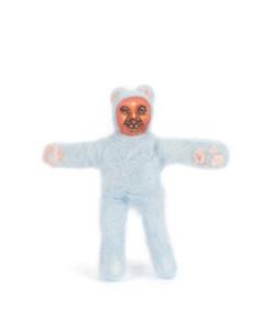 Mini blue teddy
