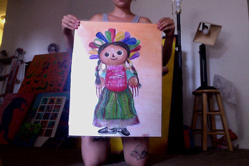 "Large poster print ""Muneca con Estilo"""