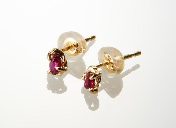K18 ルビーのピアス Ruby earrings