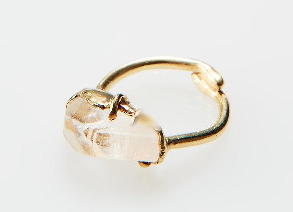 Rough cut Topaz Ring