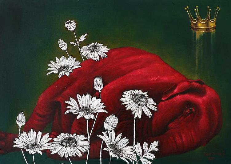 Untitled 2020 | Barana Saadat Oil on canvas