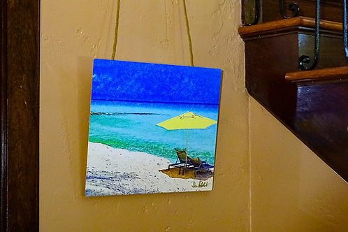 """Beach Break on Bimini"" Vivid Aluminum Limited-Edition Signed Print"