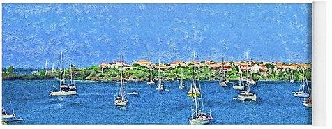 Sailboats-Resting-At-Prickley-Bay-Impres