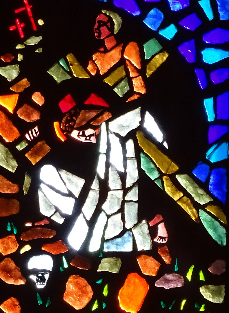 7_Bearing_the_cross_stained_glass_art_po