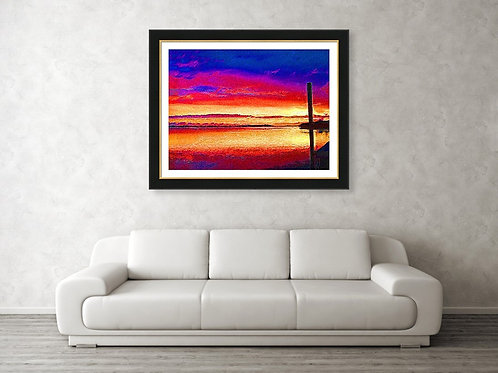 """Everglades Lone"" Signed Framed Archival Print"