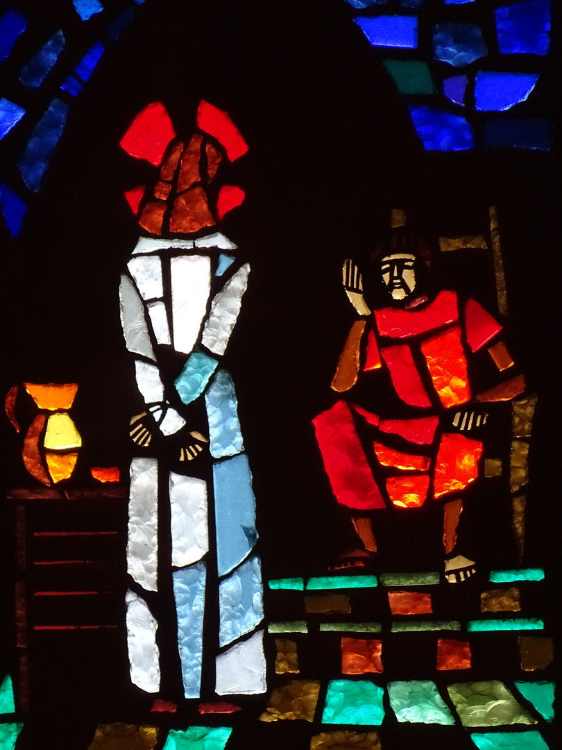 6_Christ_before_Pilate_stained_glass_art