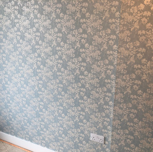 Finished Wallpapering