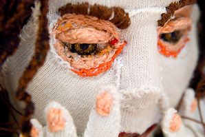 textile art installation contemporary  hand embroidery