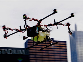 Drones capaces de desinfectar un estadio en 3 horas