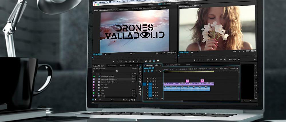 Editores de vídeo - Drones Valladolid