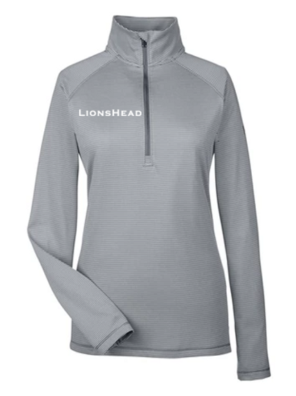 LHA Grey Stripe Quarter Zip