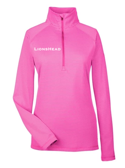Pink Stripe Quarter Zip