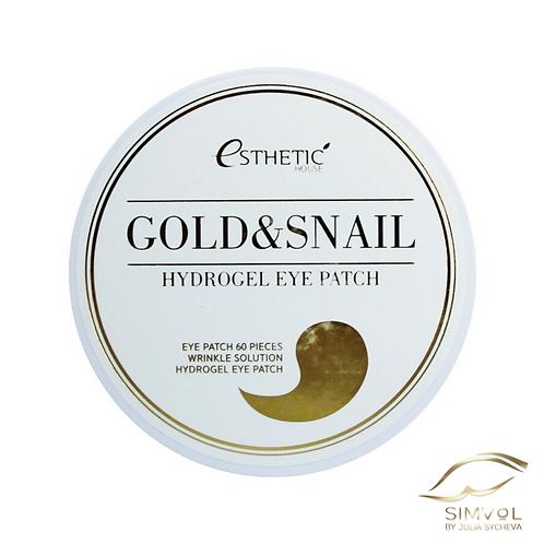 Гидрогелевые патчи для глаз Esthetic House Gold & Snail Hydrogel Eye Patch
