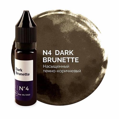 Пигмент для бровей  №4 Dark Brunette