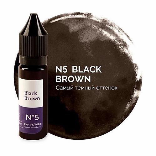 Пигмент для бровей Hanafy Colours Pigments №5 BLACK BROWN