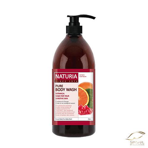 Гель для душа TM Naturia (клюква-апельсин)