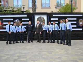 East Valley PALS' Ross Pendergraft Shows Dedication W/ LAPD  End of Watch Memorial Wall