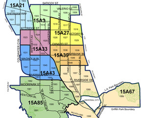 2015 East Valley LAPD Basic Car Map