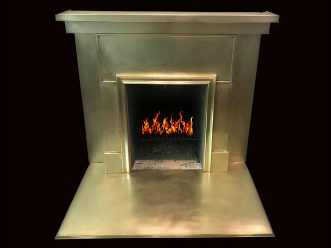 Beautiful Brass fireplace surround