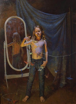 Haverkamp, Seth Mars Rising, 60x40, oil.