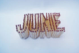 Photograph showing 3D typography using matches.
