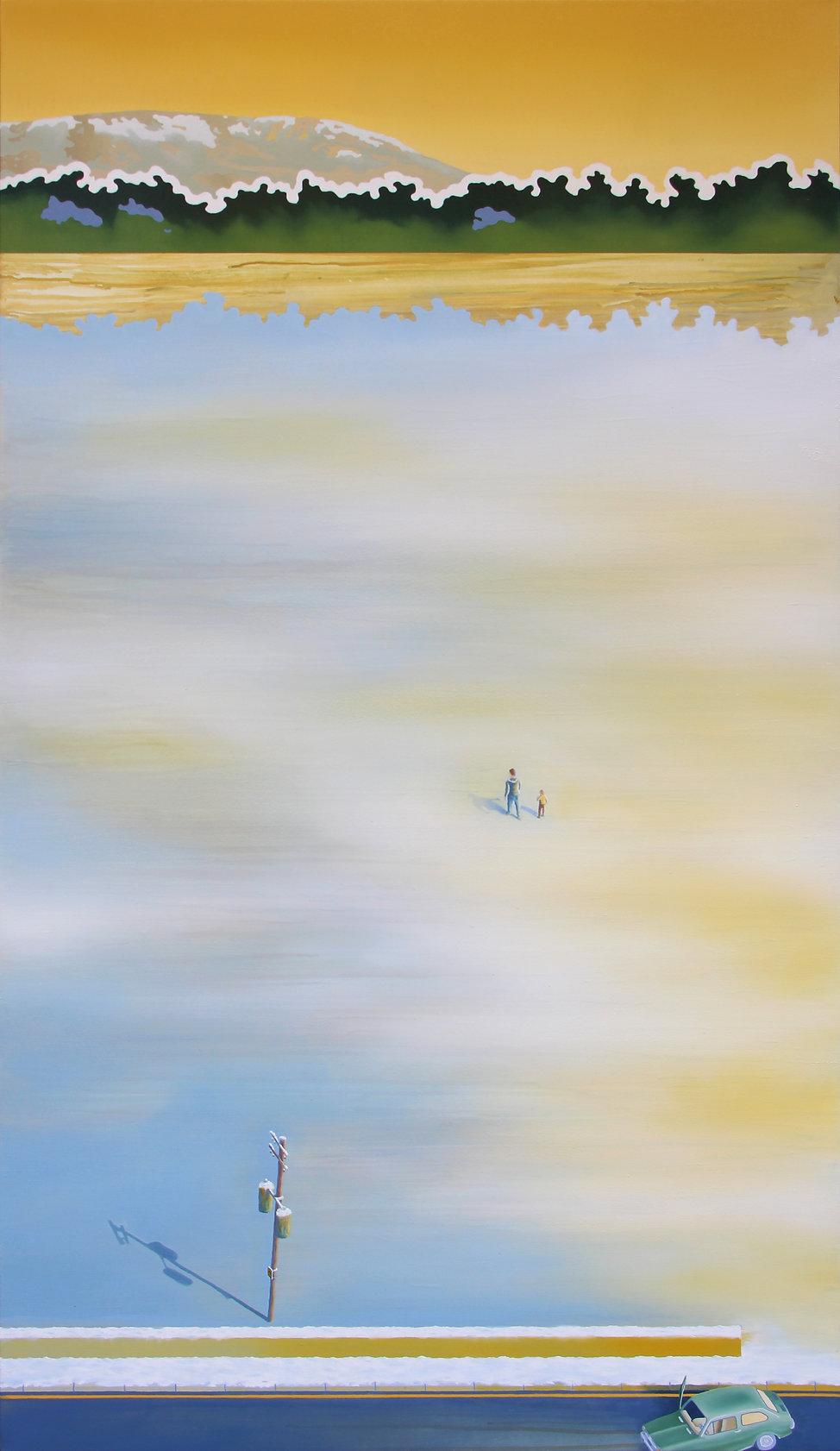 L'écart, acrylique et huile sur toile, 90x160cm, 2020