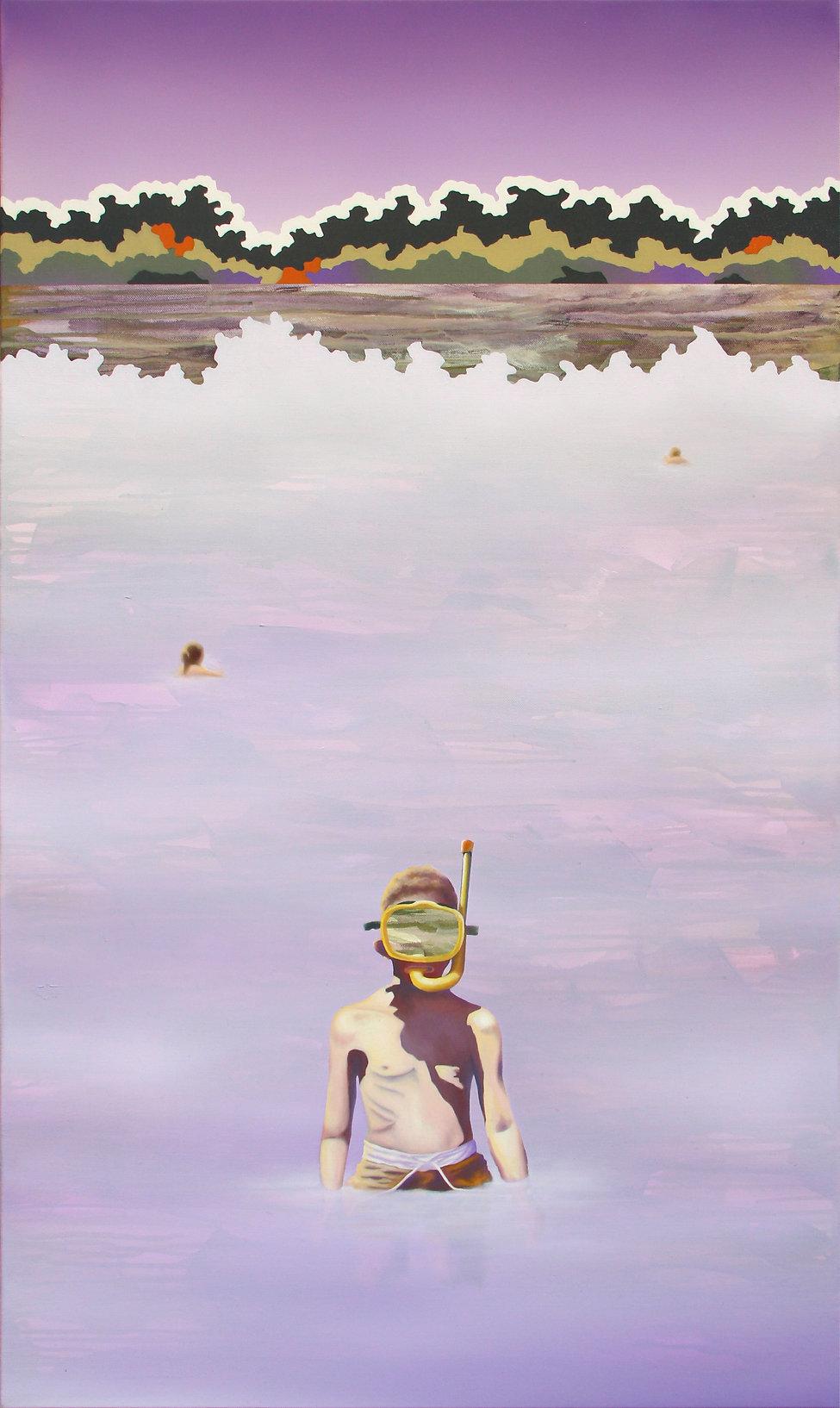 L'épreuve_acrylic and oil painting on canvas_70x120cm_2020_Lucas Pfeiffer