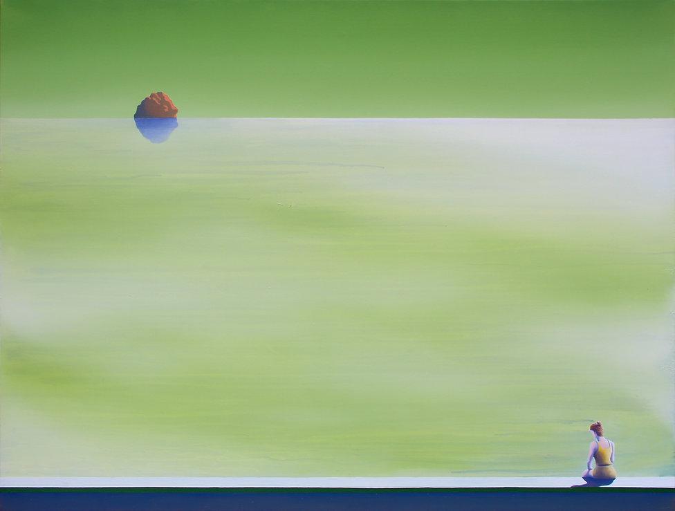 Horizon, acrylique et huile sur toile, 90x120cm, 2020