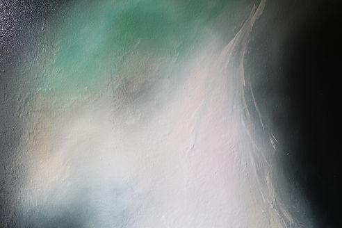 Lucas Pfeiffer, Cascade ( détail ), huile sur toile 100x100cm, 2018
