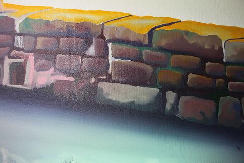 Lucas Pfeiffer, La berge ( détail ), huile sur toile 130x140cm, 2018
