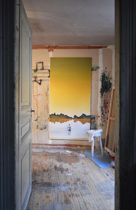 Horizon, 100x200cm, acrylique et huile s