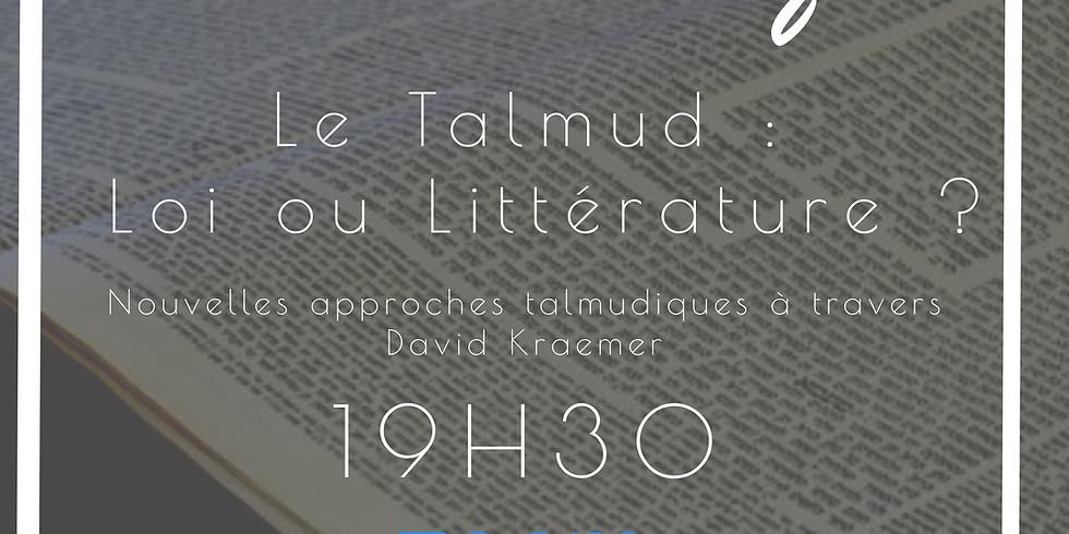 18/04 - Etude : Le Talmud, loi ou littérature ?