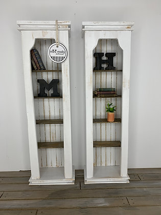 1:6 Tall White Shelves
