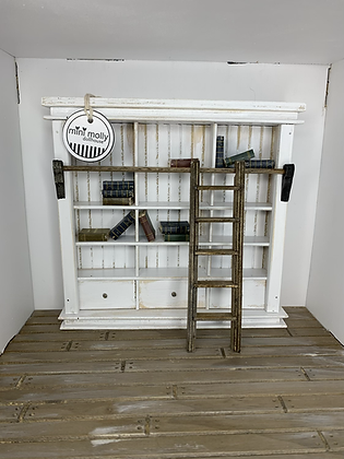 1:12 Bookcase with Ladder
