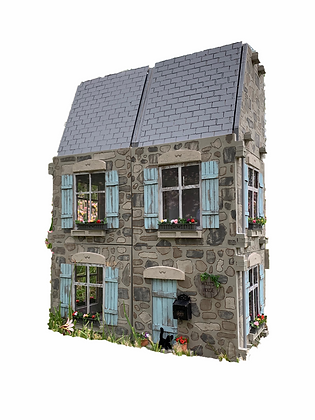 1:12 Scale 6 ROOM 3 Storey Dollhouse - FREE SHIPPING!!