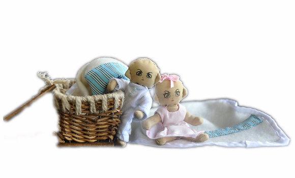 Minimollydollhouse dolls Twin Babies