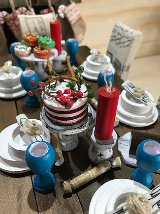 Christmas Food Set - Turkey, Cakes, BonBons