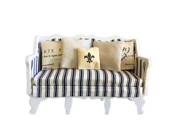 2-seater Couch / Lounge (French Stripes)